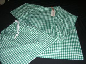 Montessori Gingham Set Green -